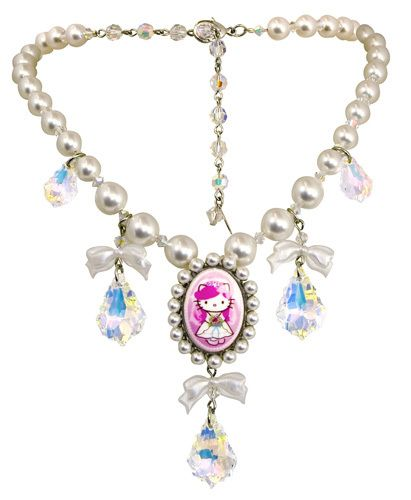 b97a11c4b Tarina Tarantino Hello Kitty Bride necklace. | Wedding accessories ...
