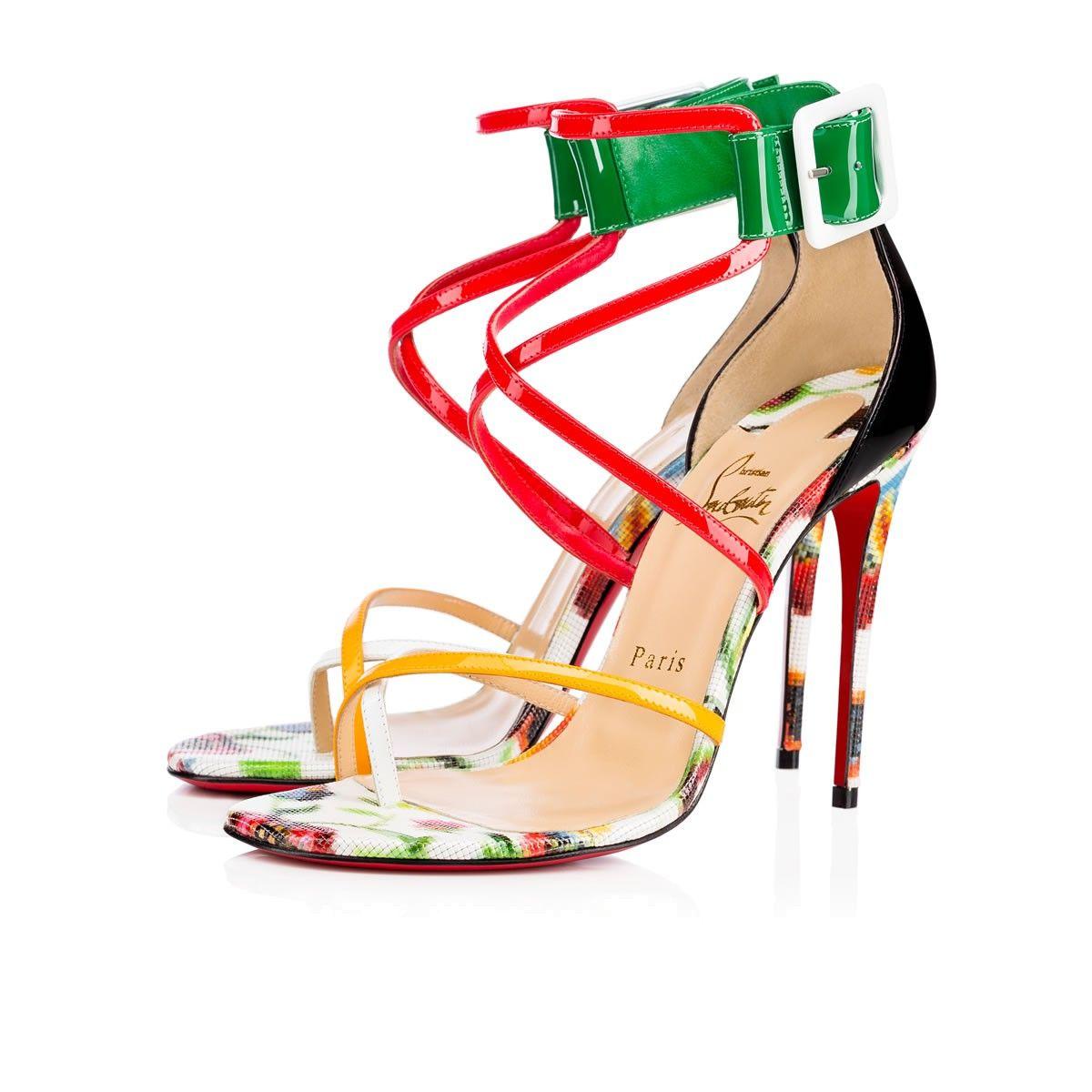 82e1f264c166 CHRISTIAN LOUBOUTIN Antigua Bay 100 Multicolor Patent Leather - Women Shoes  - Christian Louboutin.  christianlouboutin  shoes