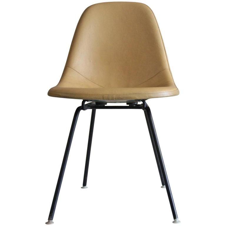 Vintage Eames Herman Miller Dsx 1 Padded Side Chair 1957