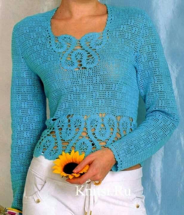 sweter celeste