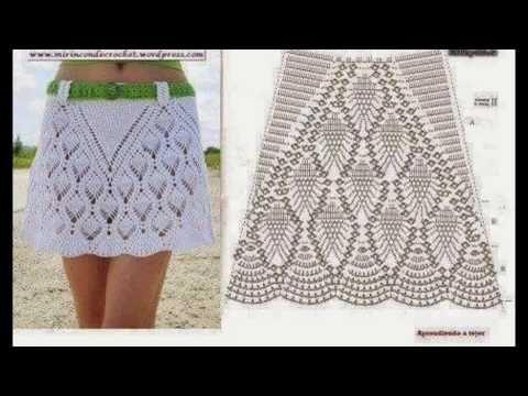 da1981b4c4 Faldas y patrones tejidos a crochet - YouTube
