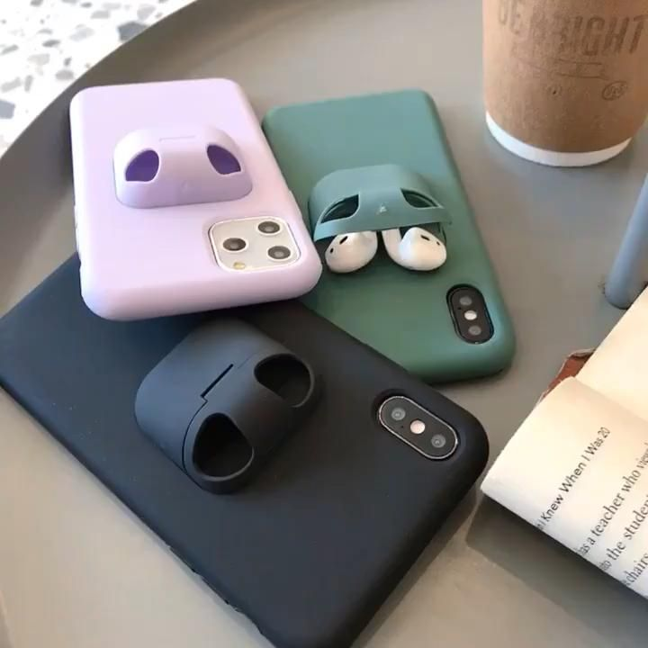 Iphone Case With Airpod Holder Mysite Video Video In 2020 Iphone Cases Apple Products Diy Phone Case
