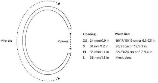Oval Bangle Size Chart Google Search Bracelet Size Chart Cuff Bracelets Diy Diamond Chart
