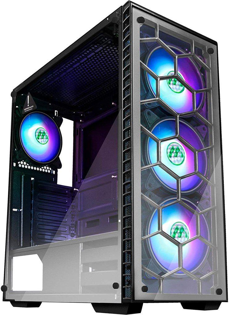 Desktops computer case window casing atx