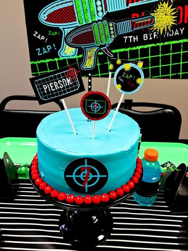 Boys Laser Tag Birthday Party Dessert Cake Ideas birthdays