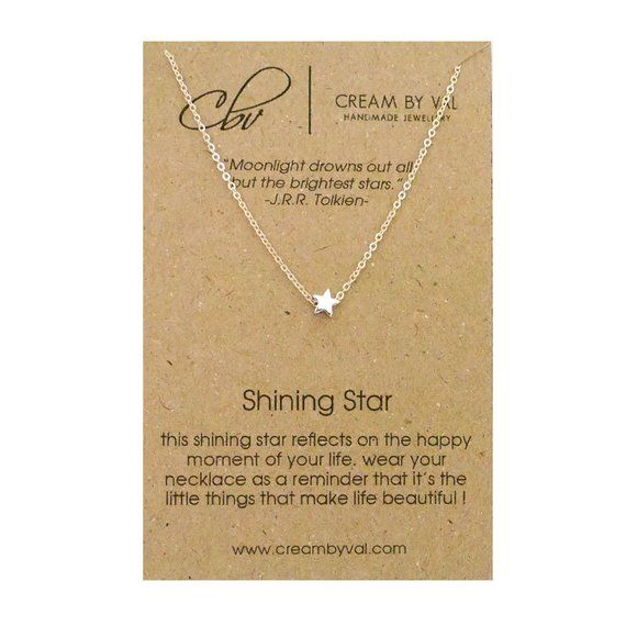 Photo of Silver Star Necklace – Shining Star Necklace Simple Dainty Necklace Congratulations Gift Under 20 Message Jewelry Meaningful Graduation