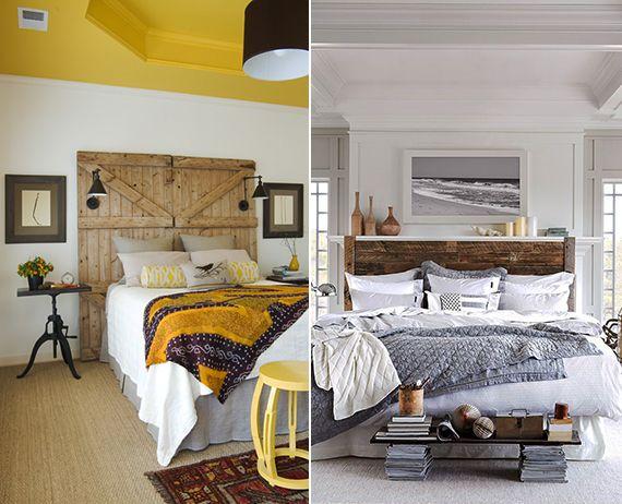 50 Schlafzimmer Ideen für Bett Kopfteil selber machen | Bett ...