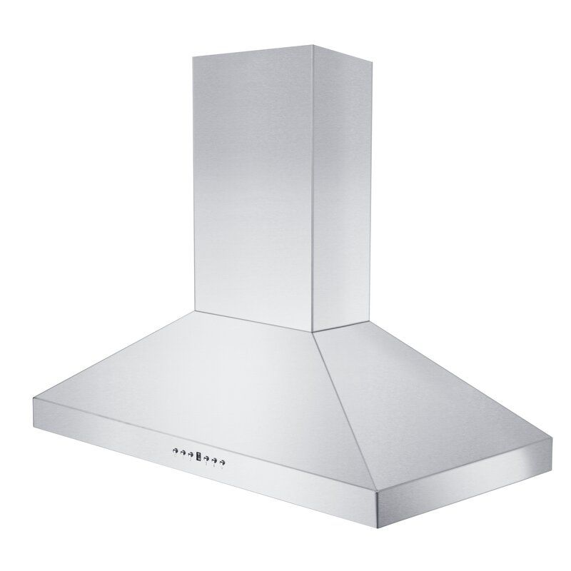 48 400 Cfm Convertible Wall Mount Range Hood In Brushed 430 Stainless Steel Wall Mount Range Hood Steel Wall Range Hood