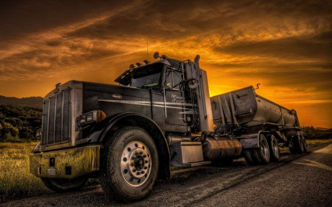 Vintage Truck Widescreen Desktop Background Wallpaper