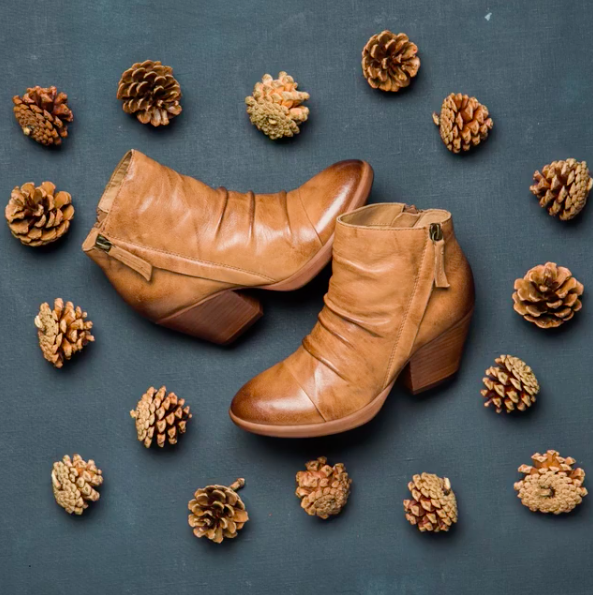GABLE in Sandstone. We adore this bootie, made with artisan leathers! How will you style it?