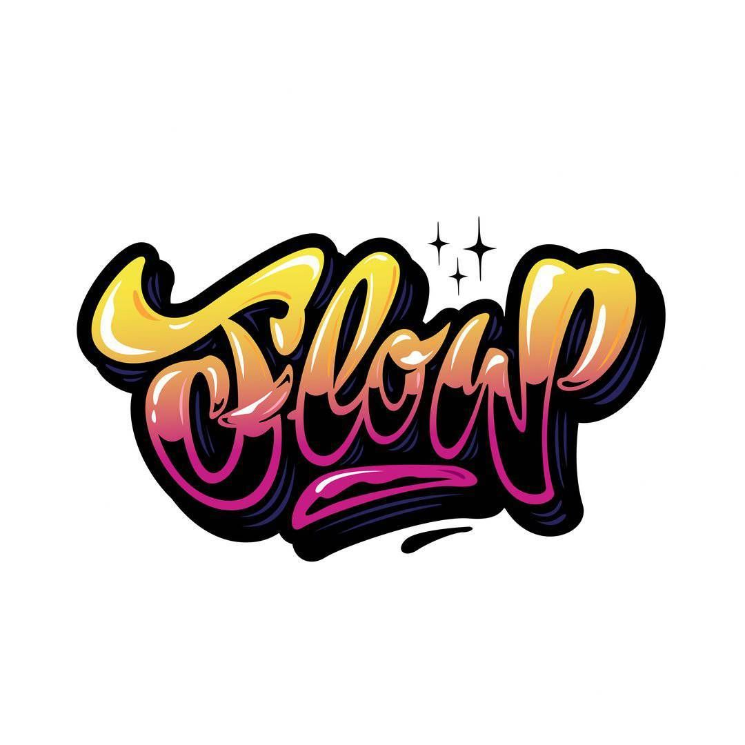 """Hello insomnia) is the best time to paint graffiti! lettering """"FLOW""""🌌🌴 #lettering #design #art #font #type #hand #sketch #print #logo#originalstyle"""