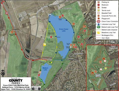 Creve Coeur Park Map Creve Coeur lake trails, st louis mo   Work it   Pinterest   Trail  Creve Coeur Park Map