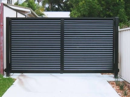 Metal Slat Gates Gated Communities Fences Pinterest