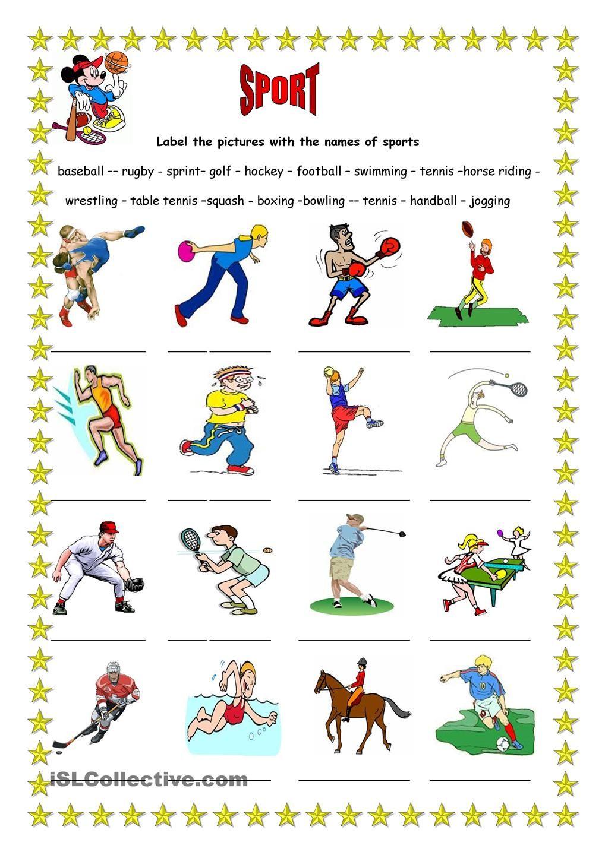 Sport 3 | école ..fiches de travail | Pinterest