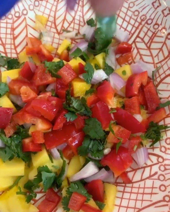 "Tabitha Brown/'s Instagram profile post: ""Mango de gallo for Taco Tuesday! #vegan #Tabithabrown #tacotuesday #mango #mangosalsa #mangodegallo"""