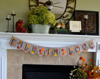 Fall Wedding Banner, Autumn Bridal Shower Banner, Fall In Love Banner
