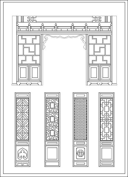 Chinese window lattice drawing CAD Design Free CAD Blocks