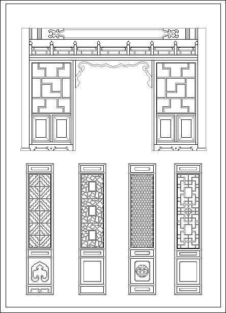Chinese window lattice drawing | Pinterest | Window ...