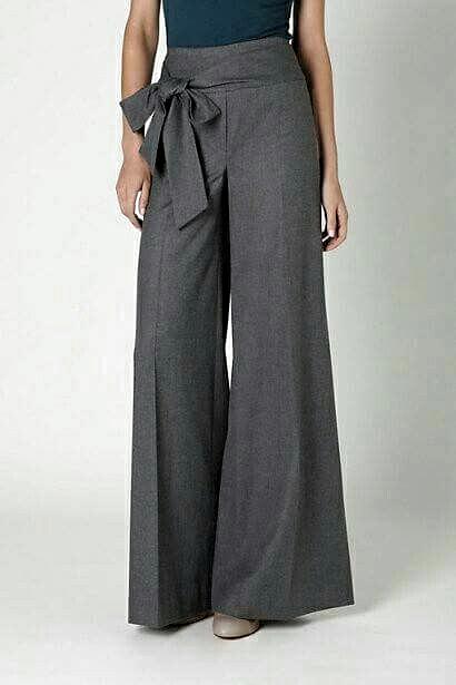 Pantalon Ancho Pantalones De Moda Pantalones De Vestir Mujer Pantalones Anchos