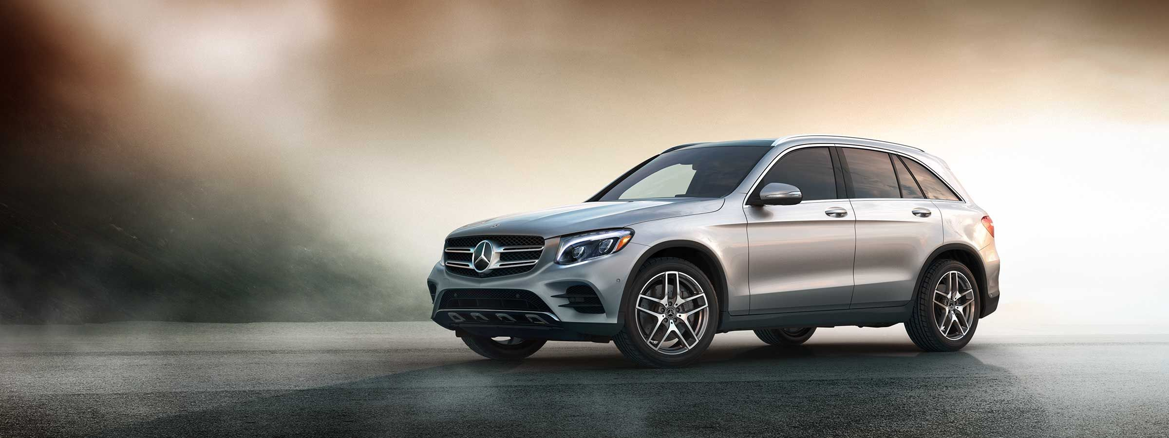 A 2019 GLC SUV stands alone, its impressive body style on