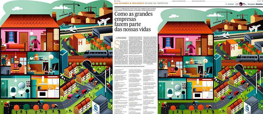 CLIENT: Expresso Newspaper, Caderno de Economia, 2014 © PROJECT:500 Maiores & Melhores