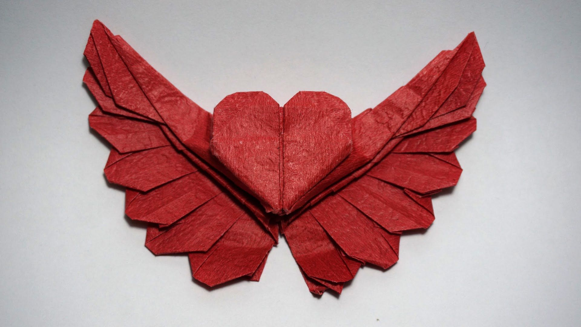 How to make an origami heart - origami winged heart 2.0 ... - photo#32