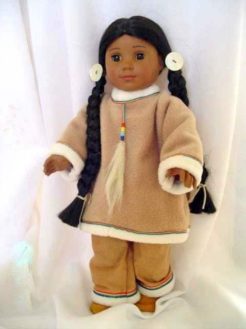 Native American Indian Girl fleece pants set fits 18 inch doll  Kaya. $21.00, via Etsy.