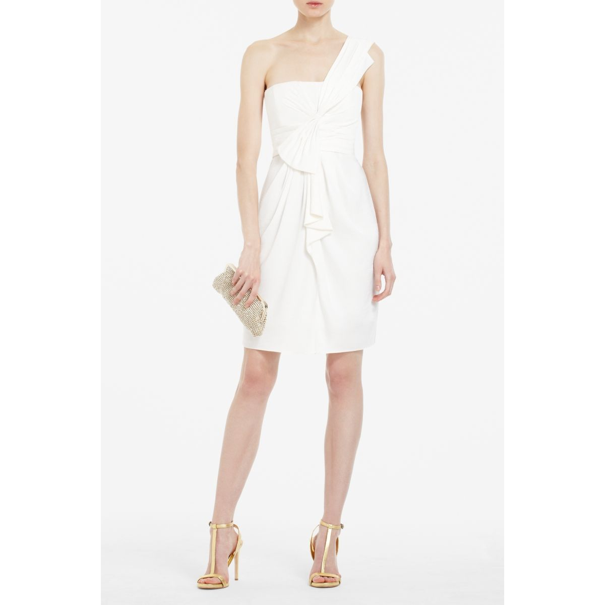 Wedding Events Rehearsal Dinner Bcbgmaxazria Dresses Tail Palais One Shoulder Dress