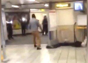 Погоню за лондонским террористом сняли на видео