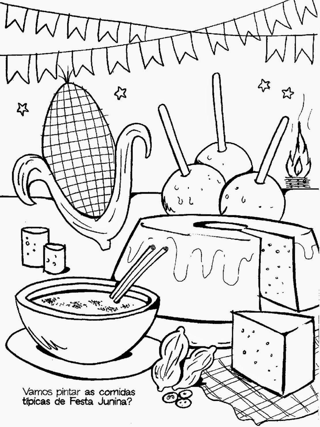 Desenhos E Atividades De Festas Juninas Para Colorir Imprimir