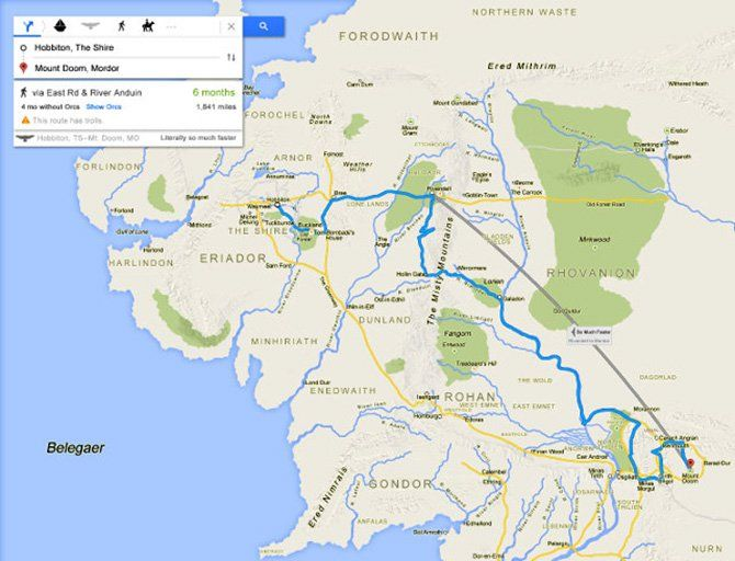 Middle Earth Google Maps | stuff to make | Map, Middle Earth, World ...