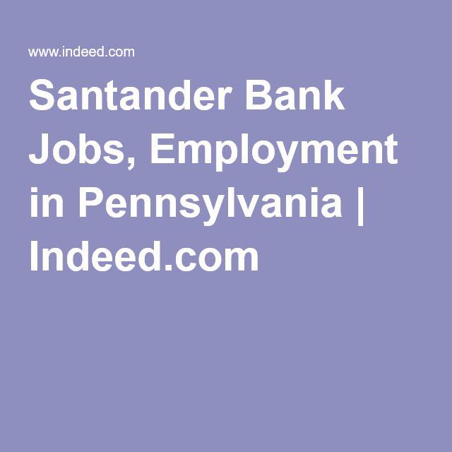 santander bank jobs