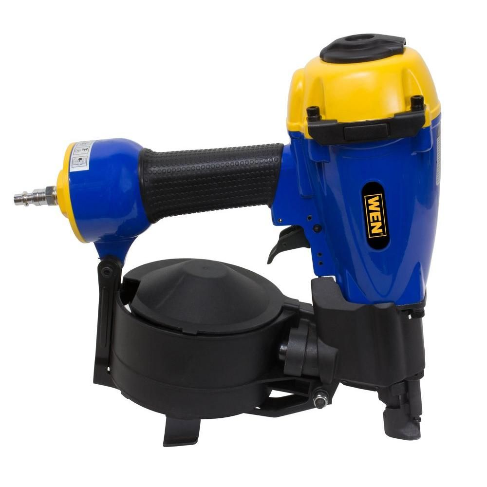 Wen 3 4 In To 1 3 4 In Pneumatic Coil Roofing Nailer 61782 The Home Depot Essential Woodworking Tools Roofing Nailer Woodworking Tools Storage