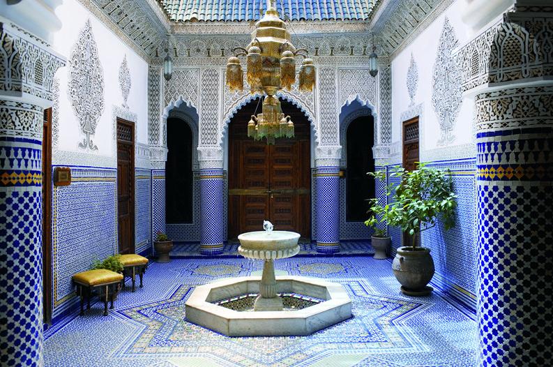deco bleue maroc la dcoration dune maison marocaine news immo maroc pinterest dco actualits et dcoration - Chambre Orientale Bleue