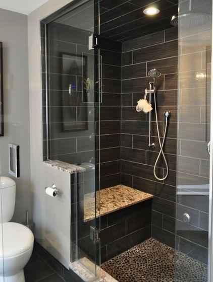 black bathroom shower tile designs Bath ideas Pinterest Tile