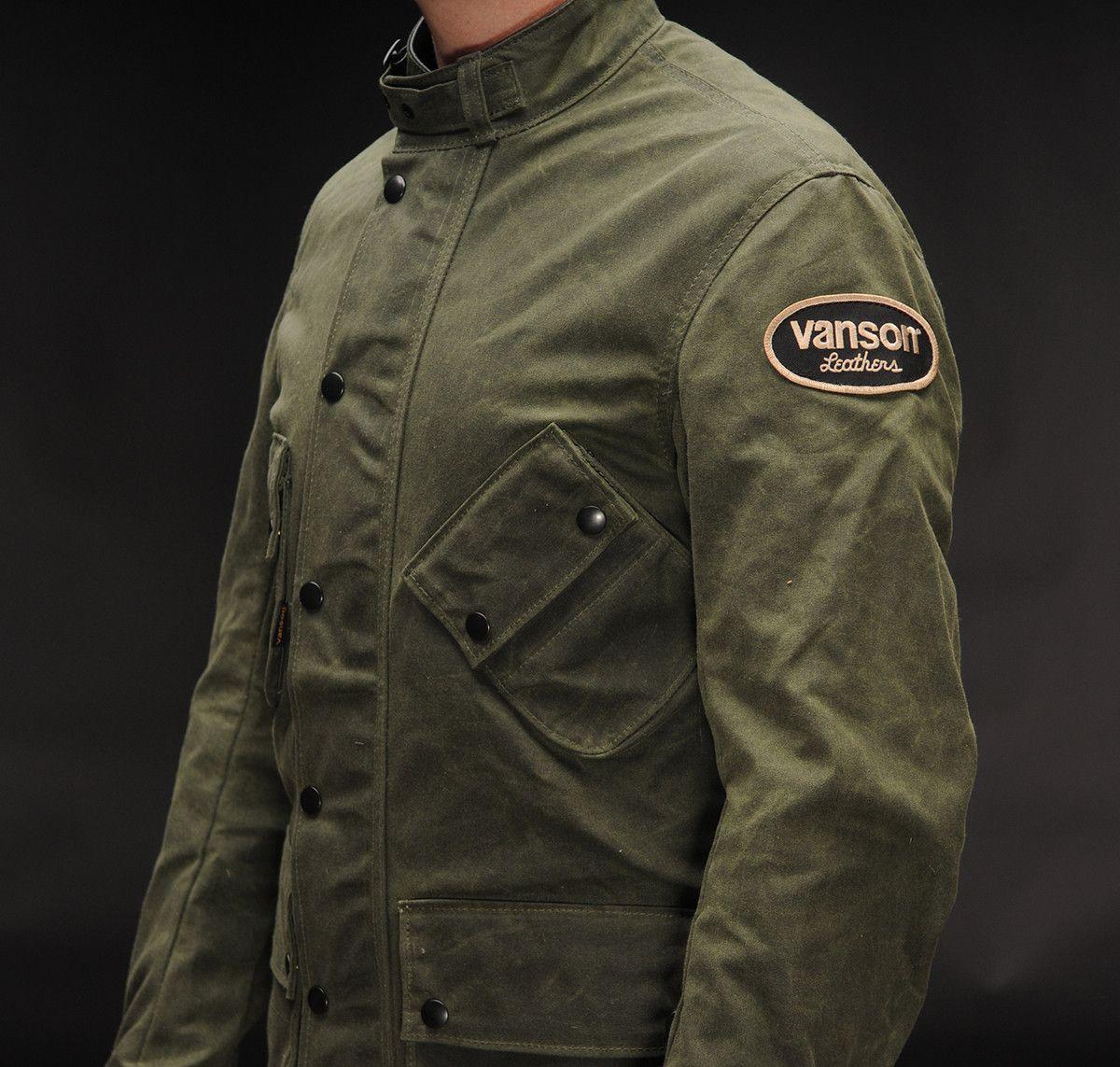 6797dfa3b Vanson Stormer Waxed Cotton Jacket | سترا رجالي in 2019 | Waxed ...
