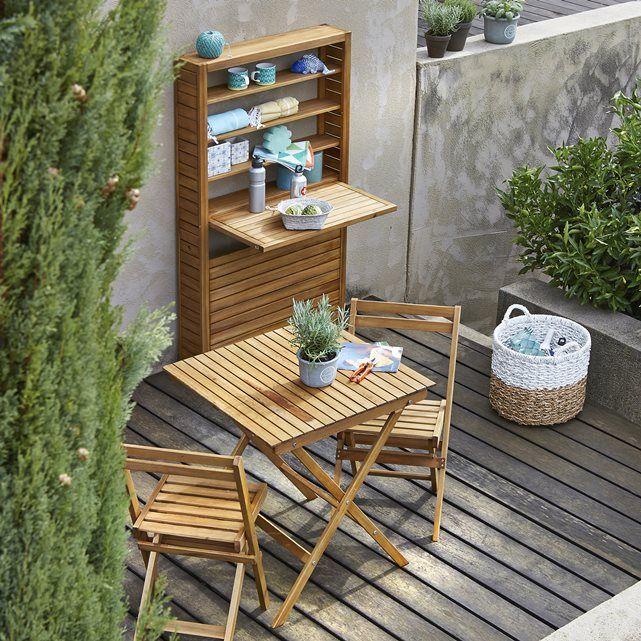 Table de balcon pliable en acacia huilé FSC La Redoute Interieurs ...