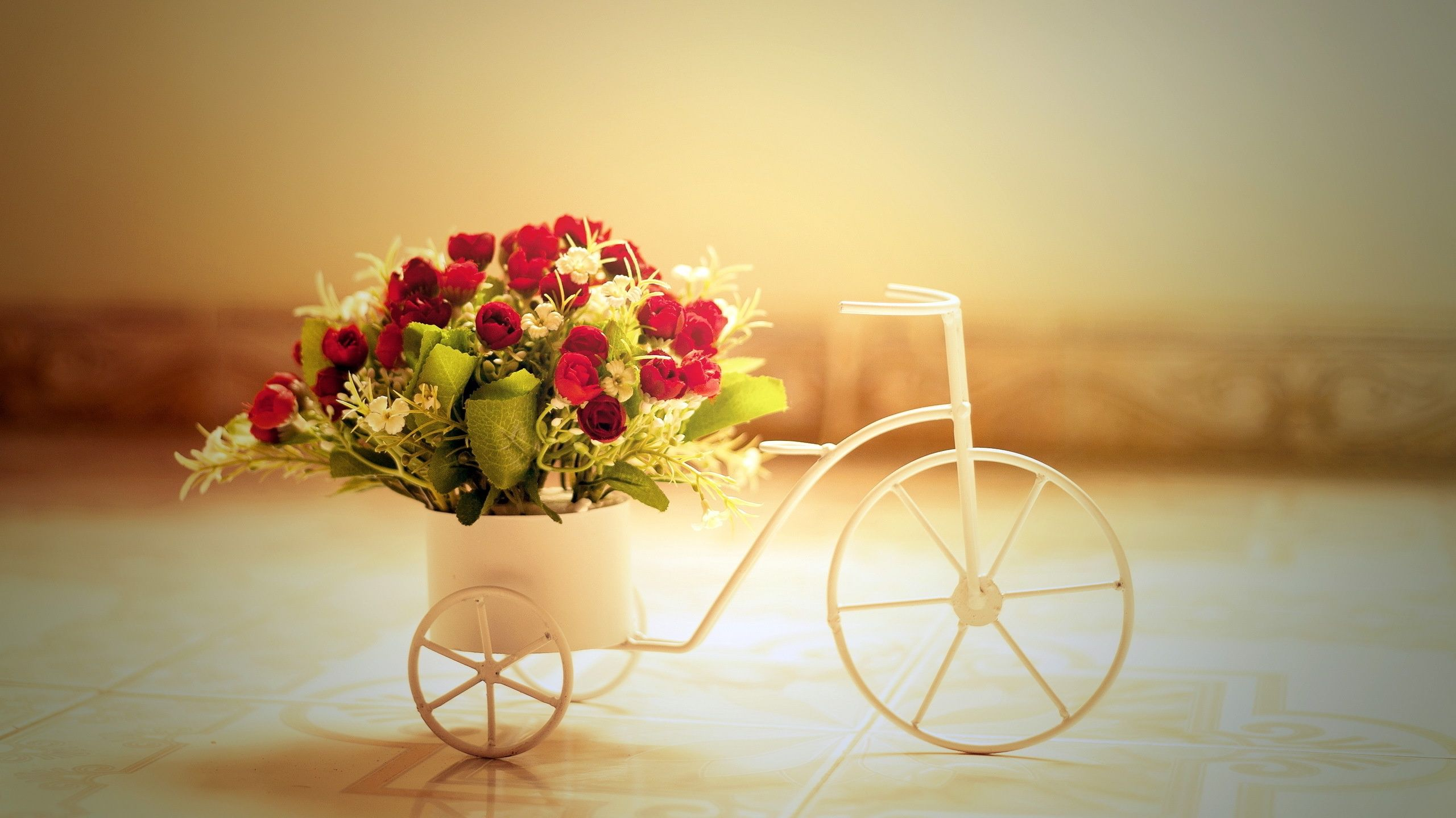 bicycles with flowers wallpaper - photo #28