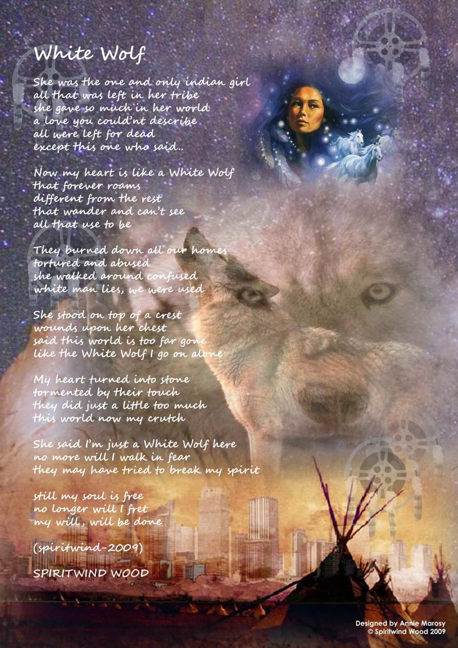 native american poems | White Wolf] Native American Posters with ...