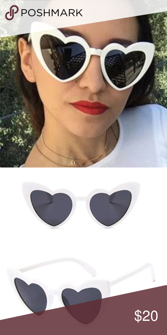 f98b21ac6f Retro White Haert Cat Eye Design Sunglasses Brand new. Retro White Haert Cat  Eye Design Sunglasses. UV 400 protection. Also available in black and red  ...