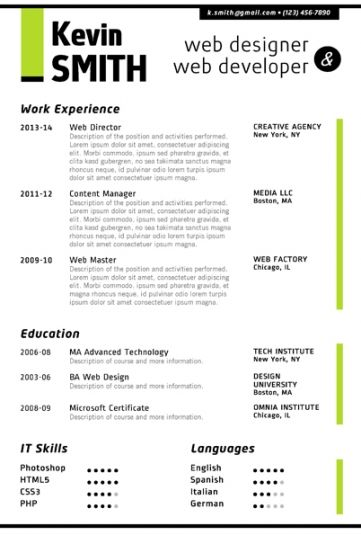 LINKEDIN Resume Template - Trendy Resumes Jobs Standard Pinterest - cool resume templates for word