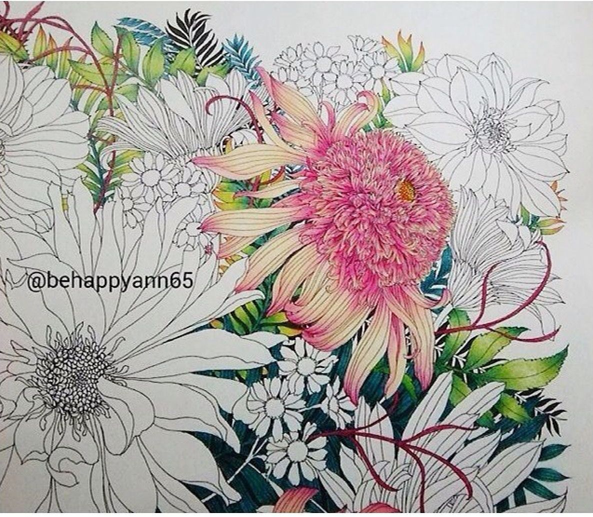 Coloring Beautiful Flowers Color Pencil Art Flower Drawing Flower Art