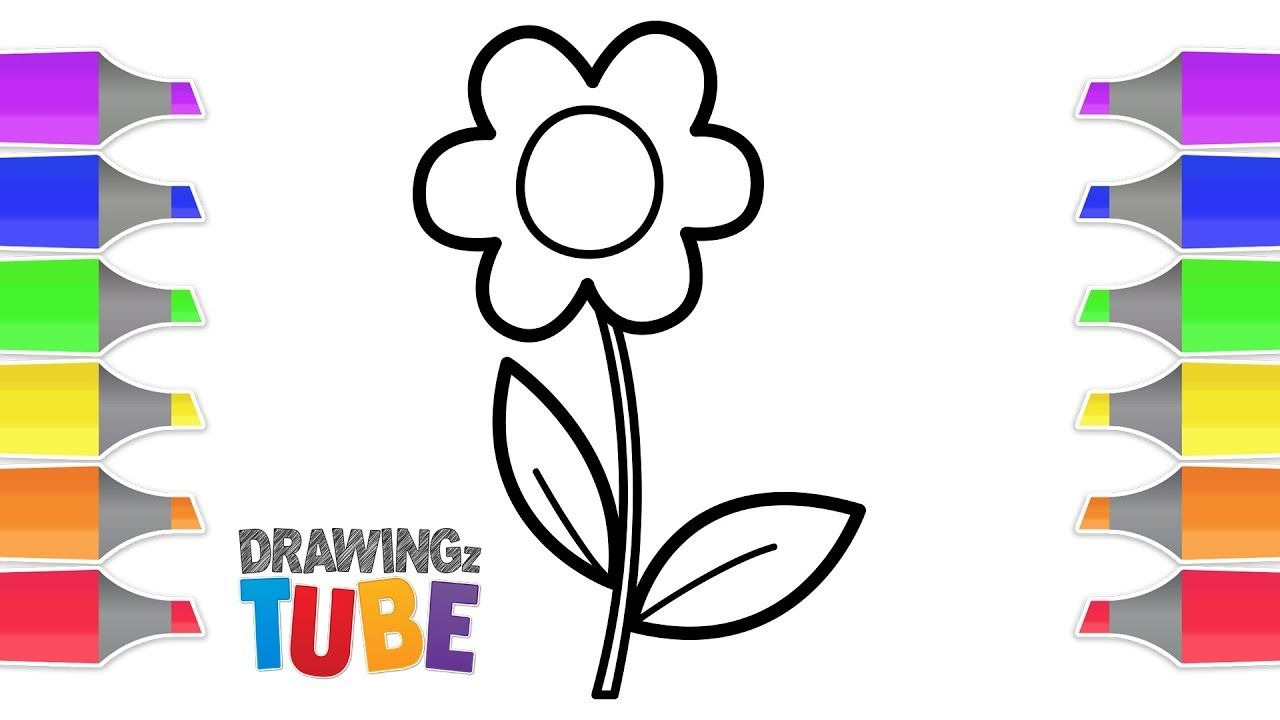 Drawing And Coloring Flower For Kids Drawings For Kids