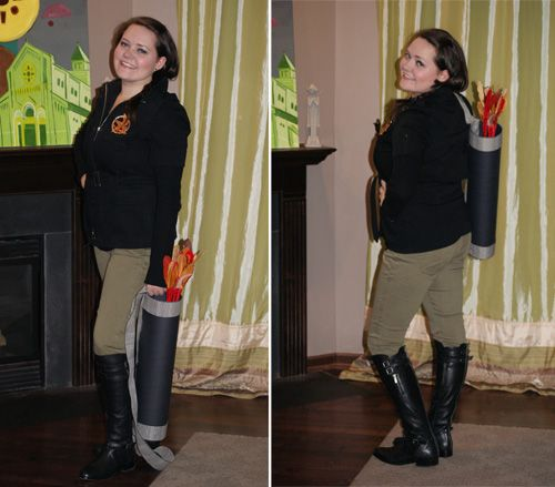 Here i am before heading out for a halloween night in district if you want to know how i constructed each piece of my katniss everdeen costume visit my diys diy solutioingenieria Gallery
