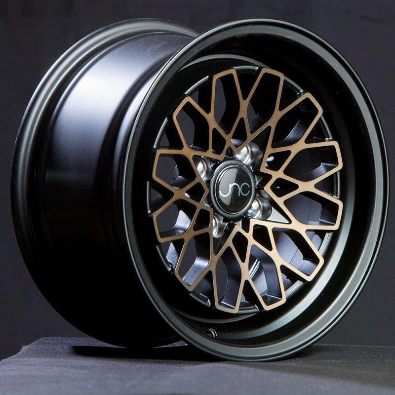 JNC Wheels Rim JNC040 Matte Black Bronze Face 15x8 4x100