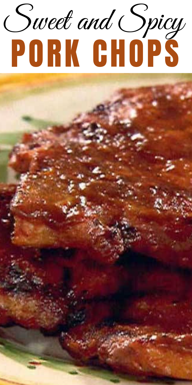 Sweet and Spicy Pork Chops These Sweet and Spicy Pork Chops are the perfect blend of sweet, savory and spicy. Making for an amazing, balanced pork chop that goes well with any side: rice, salad, veggies, pasta. Try it out, you won't regret it.