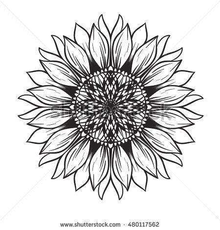 Image Result For Sunflower Mandala Outline Painting
