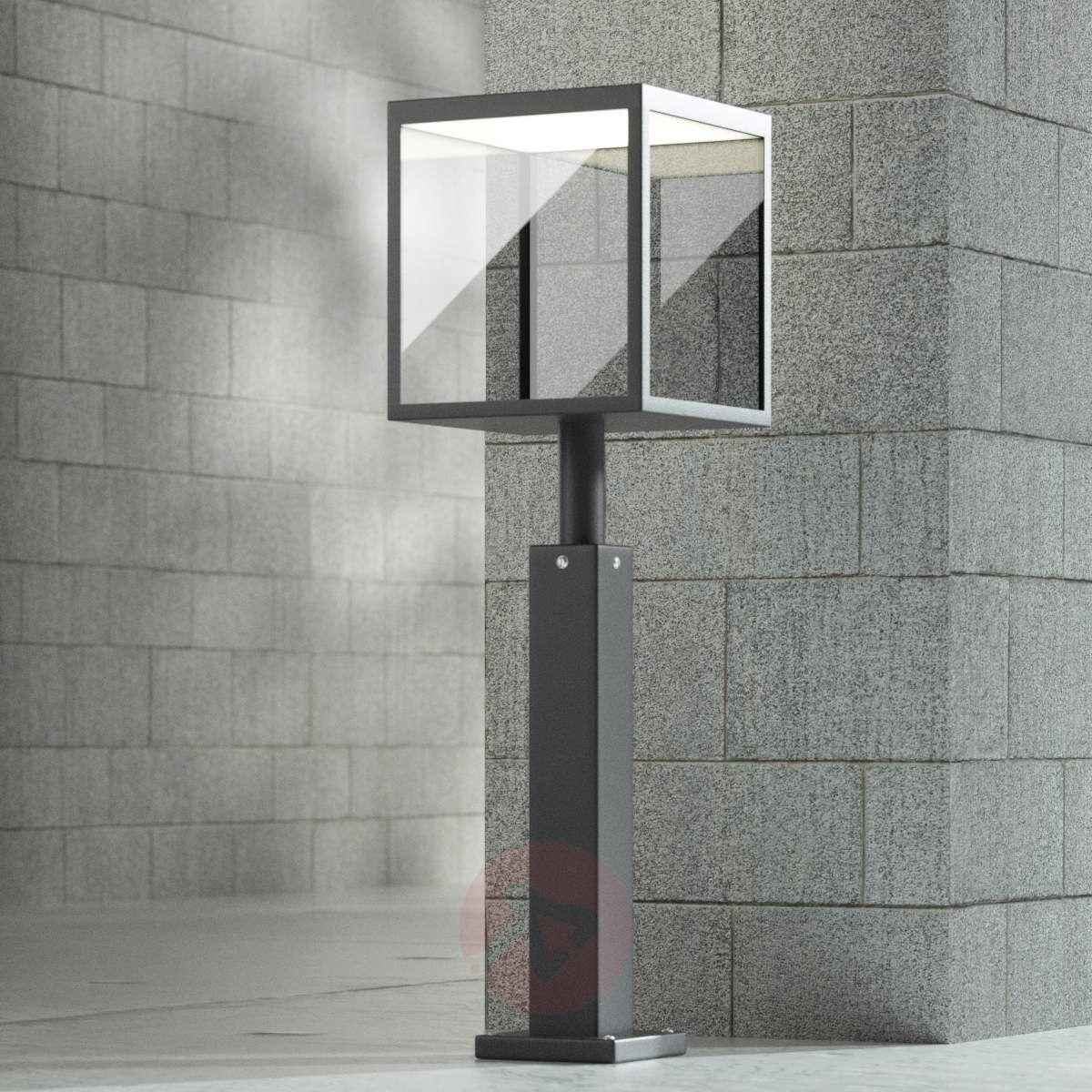 lampy zewnętrzne sześcienny grafitowe z czujnikiem ruchu