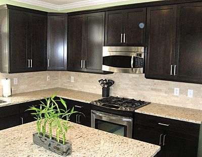 Best Backsplash And Counters Expresso Cabinets Sleek But 640 x 480