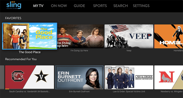 Sling TV adds personalized launching